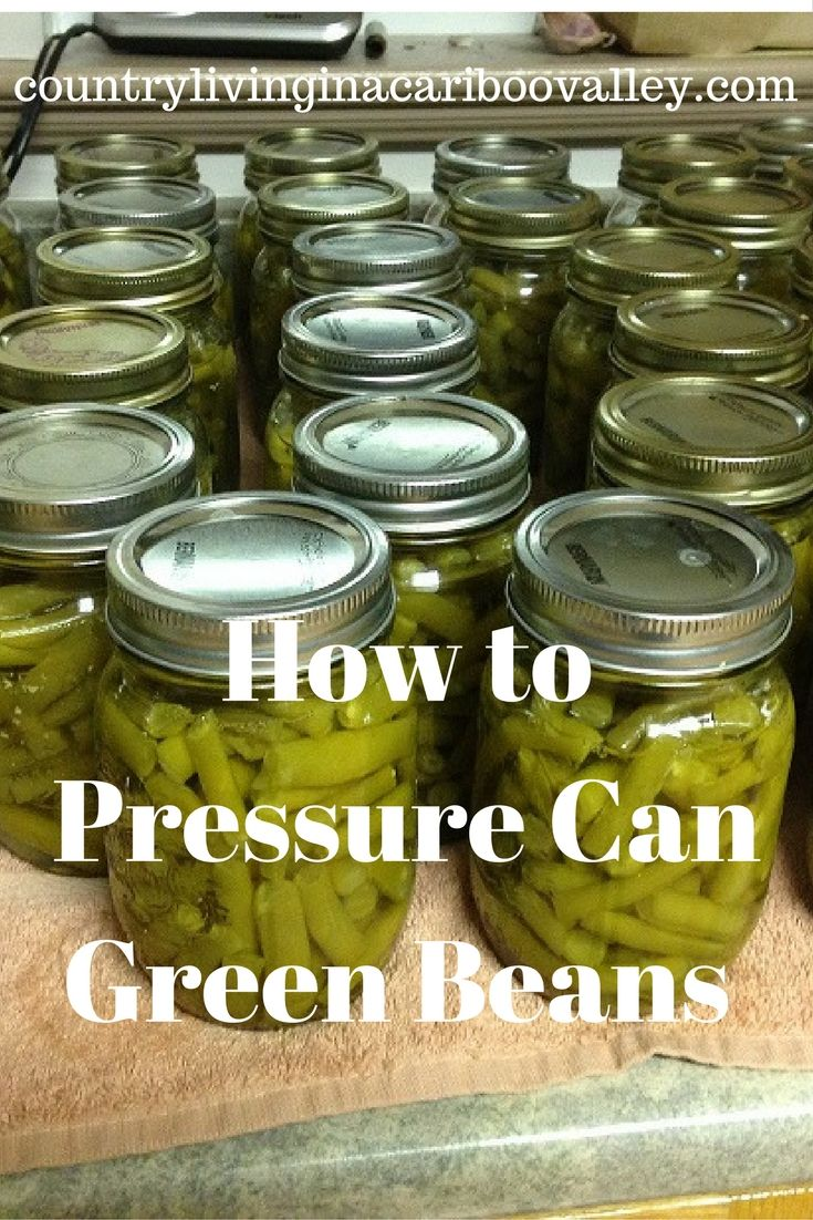 How I Pressure Can Green Beans. Preserving food = eating organic all year!
