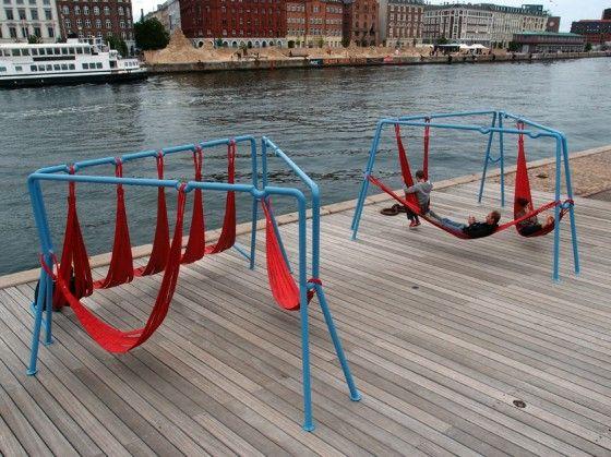 off-ground, un élément de jeu et de repos pour l'espace public_ Copenhague