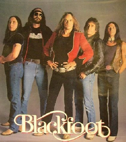 Blackfoot. Somewhere, at some outdoor music festival, in Southern Ohio. I remember the crowd burned down the big wooden entrance to the place.