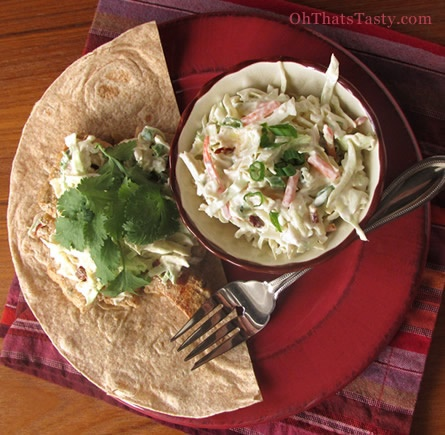 oh, that's tasty! :): Slightly spicy slaw: perfect for pork or fish ...