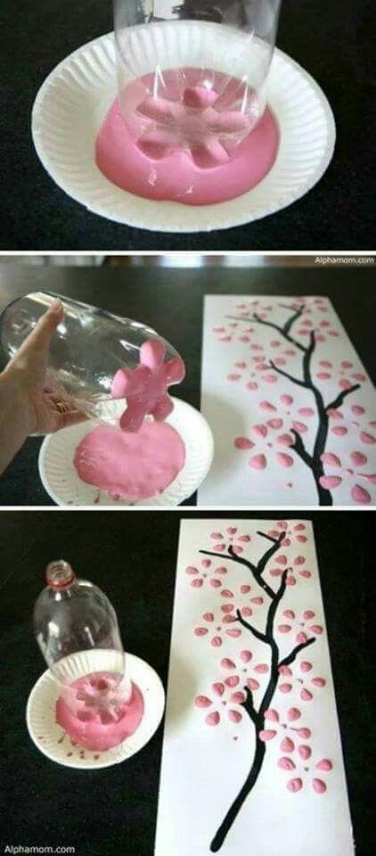 Paint print bottle