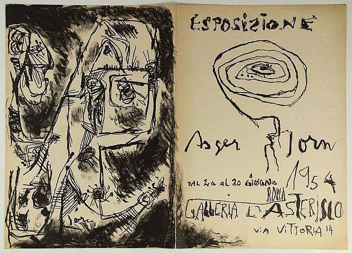 [Jorn, A.].  'Espozione Asger Jorn (...)'.  roma,