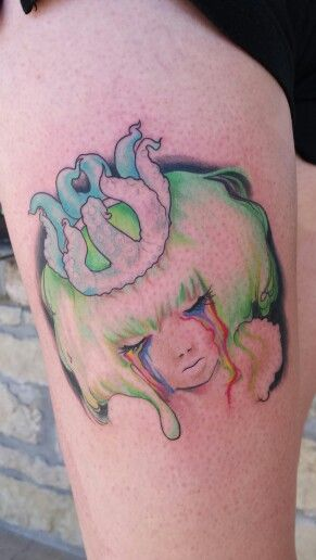 Color tattoo portrait