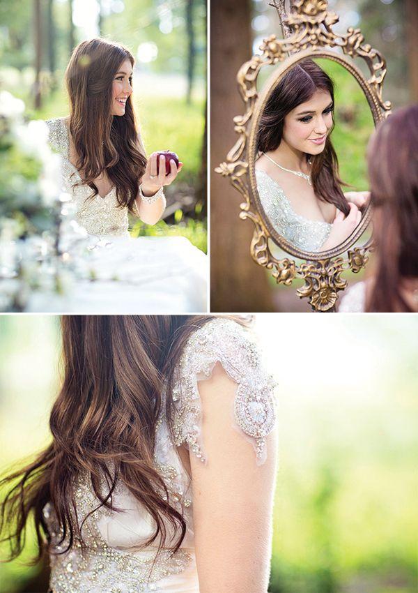 Beaded Wedding Dress - Snow White Inspiration Shoot by Neiyo Sun