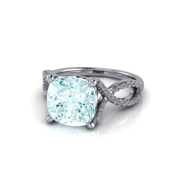 Cushion cut aquamarine infinity engagement. Contact us to make changes to this ring.   #ring #diamonds #rings #fashionjewelry #jewelrygram #engagementring #jewelrydesign #jewelryaddict #weddingrings #showmeyourrings #ringbling #weddingblog #weddingforward #heputaringonit #futurewife #isaidyes #gettingmarried #proposal #couplegoals #marryme #bridetobe #engagement #instawed #finejewelry #perfectproposal #wifetobe #bridesmaid #fiancee #ohsoperfectproposal #trekjewellers