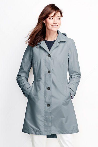 Women S Coastal Rain Coat From Lands End Clerical Cutie