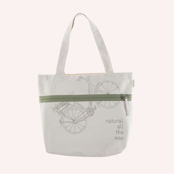 Bag Alexia  It fits everything you need for your summer walks! Thanks to the practical zipper, it can be shortened to resemble a handbag. Made of 100% cotton fabric.