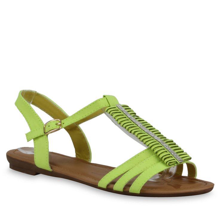 Knallig grüne Sandalen von stiefelparadies.de