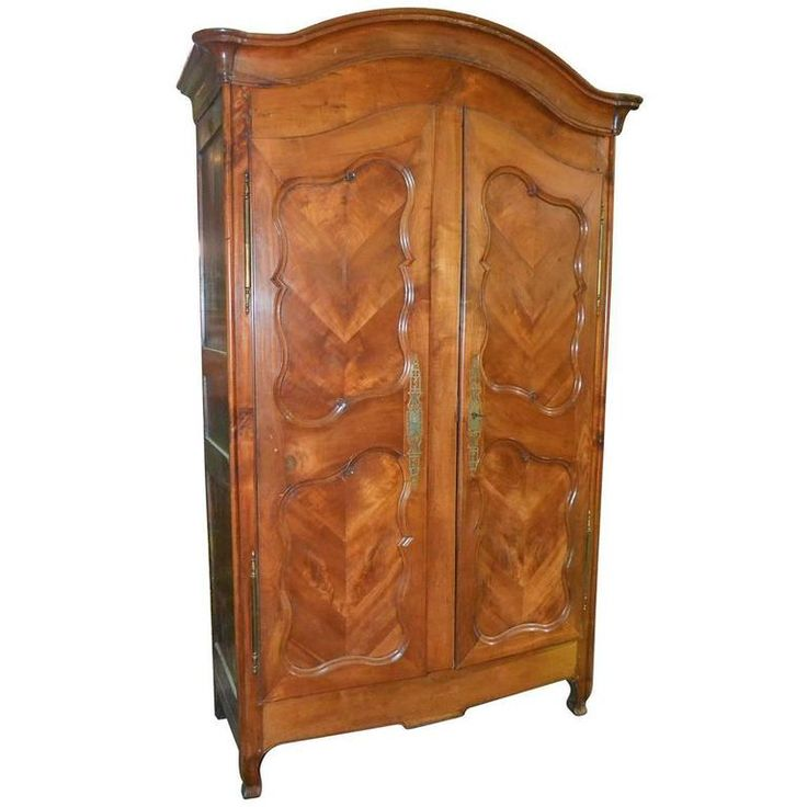 18th Century French Cherrywood Armoire | From a unique collection of antique and modern wardrobes and armoires at https://www.1stdibs.com/furniture/storage-case-pieces/wardrobes-armoires/