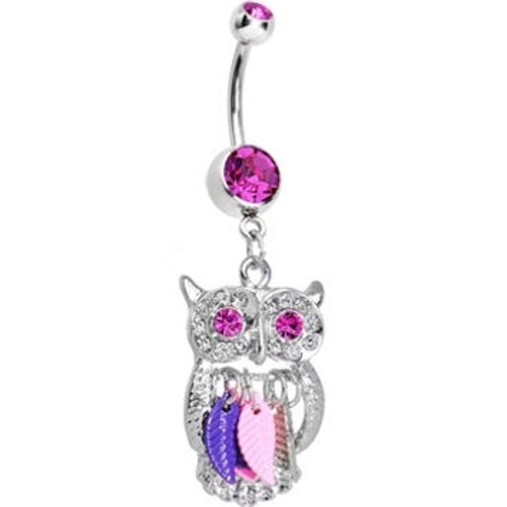 21. #double chouette #excentrique rose charme #Dreamcatcher Dangle #Belly Ring - 29 pièces de Dreamcatcher #bijoux à clin d'oeil vers le haut... → #Jewelry