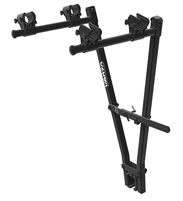 Venzo 2 Bicycle Bike Rack Tow Bar Hitch 2 Bar Clamp Mount Car