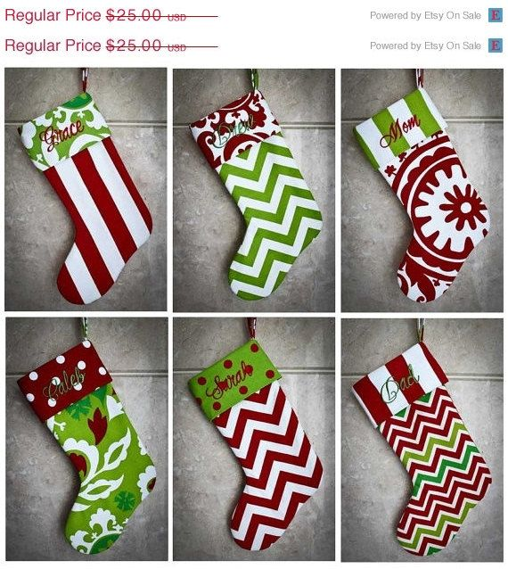 On sale personalized christmas stocking custom made to order many