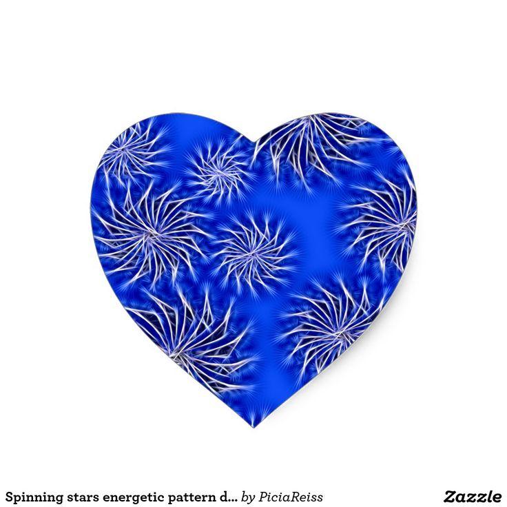 Spinning stars energetic pattern dark blue