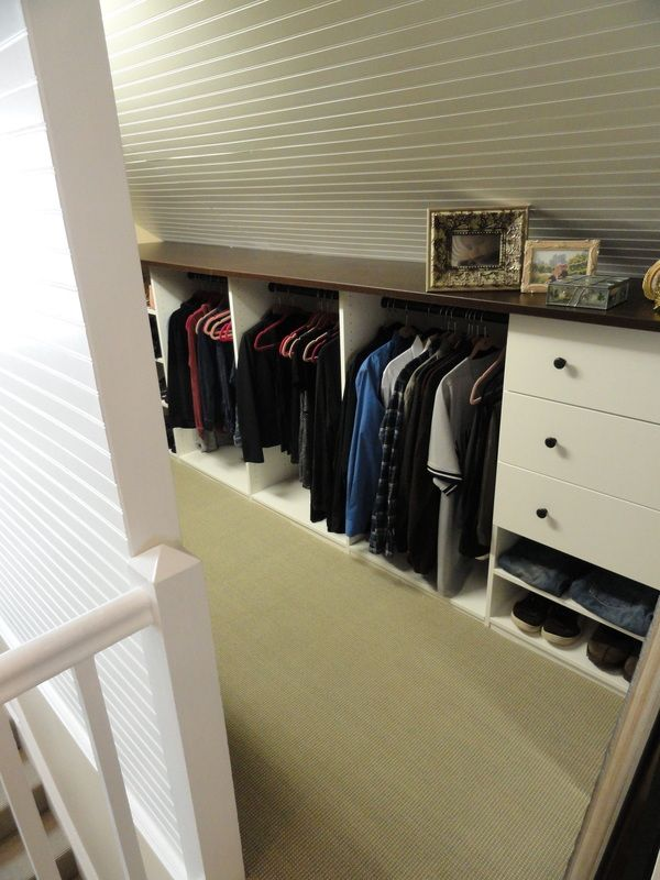attic as closet storage