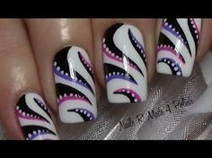 50 videos guide Nail design art (video 01-50) - YouTube