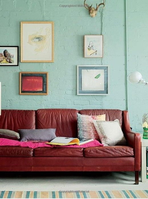 Lili Diallo's loft - in this photo the wall appears more green, which I love.