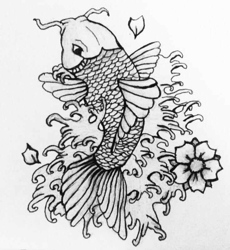 25 melhores ideias sobre dessin carpe koi no pinterest peixe t mido tatouage carpe koi e - Carpe koi dessin ...