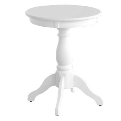 Wonderful Pedestal Accent Side Table In White   BedBathandBeyond.com | Home |  Pinterest | More Pedestal Ideas