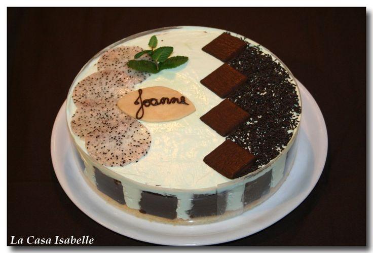 Recette - Entremet chocolat / menthe   750g