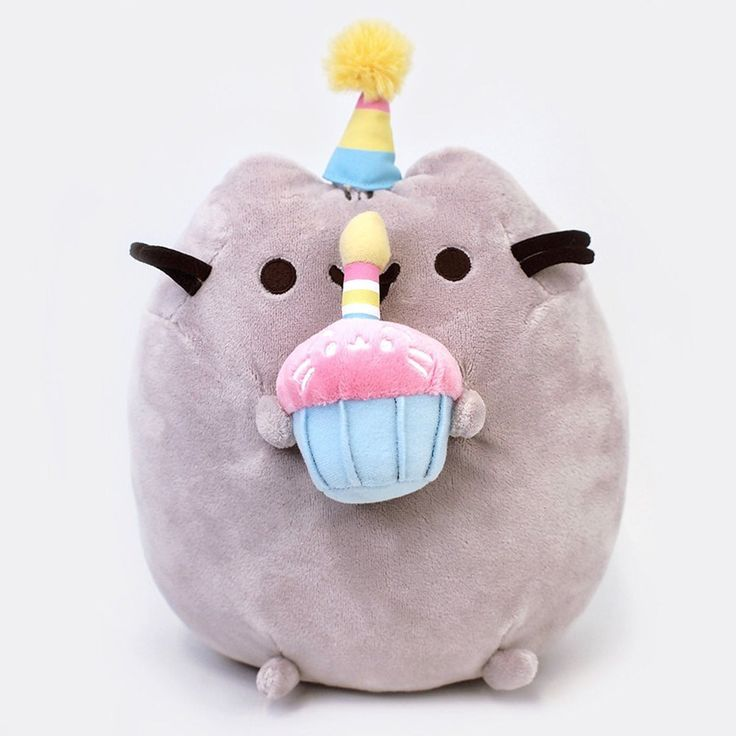 This is a Gund Pusheen Birthday 10.5 Inch Plush Figure. Produced by the neat folks over at Gund, they're well known for making quality stuffed figures. Birthday Pusheen is roughly 10.5 inches tall and