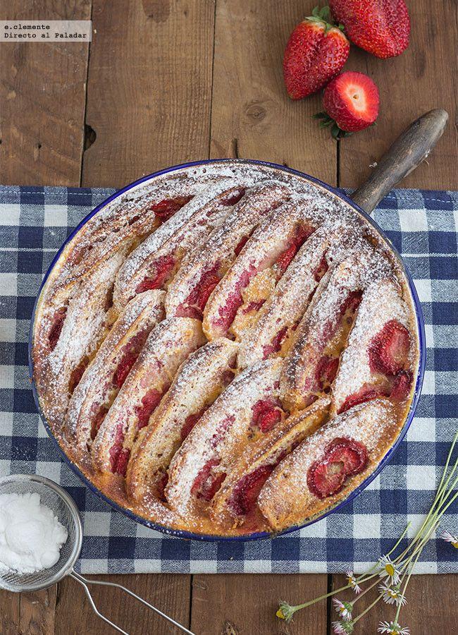 Pudding de fresas y brioche