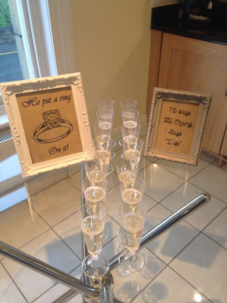 Hen Party Decor & champaign