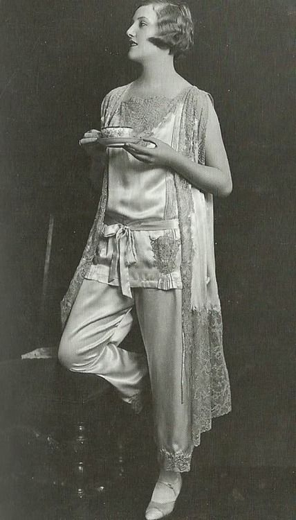 Morning Tea, Late 1920s Vintage Pajamas Photo Shoot by James Abbe