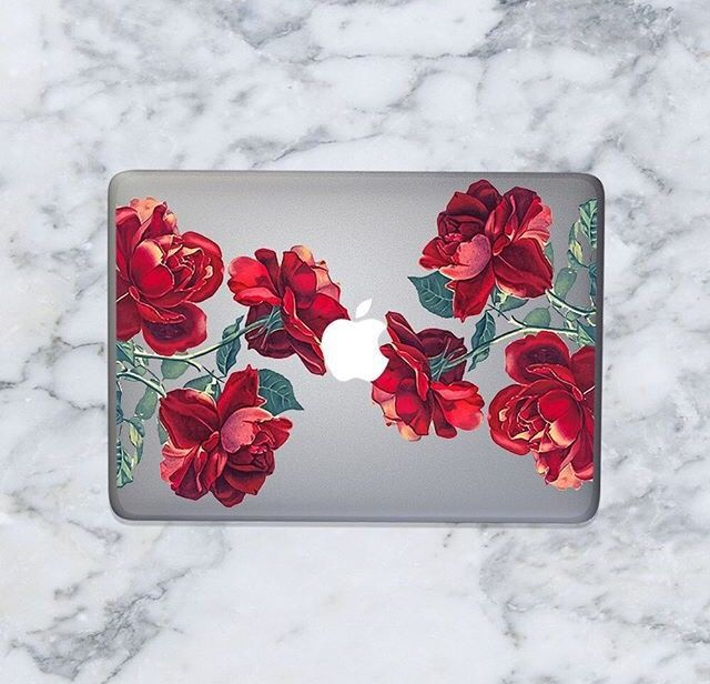 red roses hard cover high quality hard case for macbook