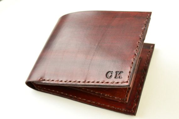 "Personalized men's wallet leather bifold wallet by Jemariku €55, to get 5% discount please use coupon code ""p10bifold"" on www.jemariku.etsy.com"