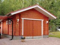 construcción de un garaje de madera