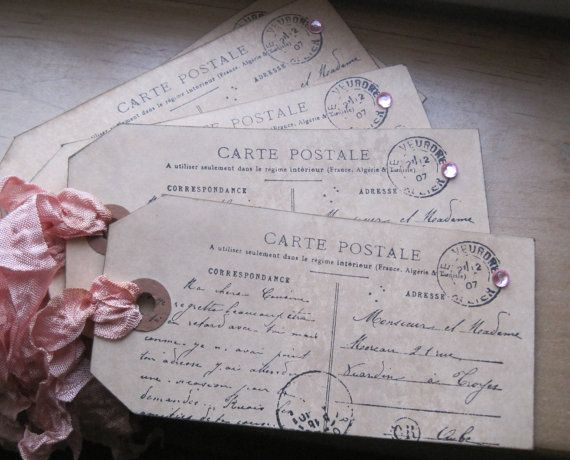 paris carte postale tags