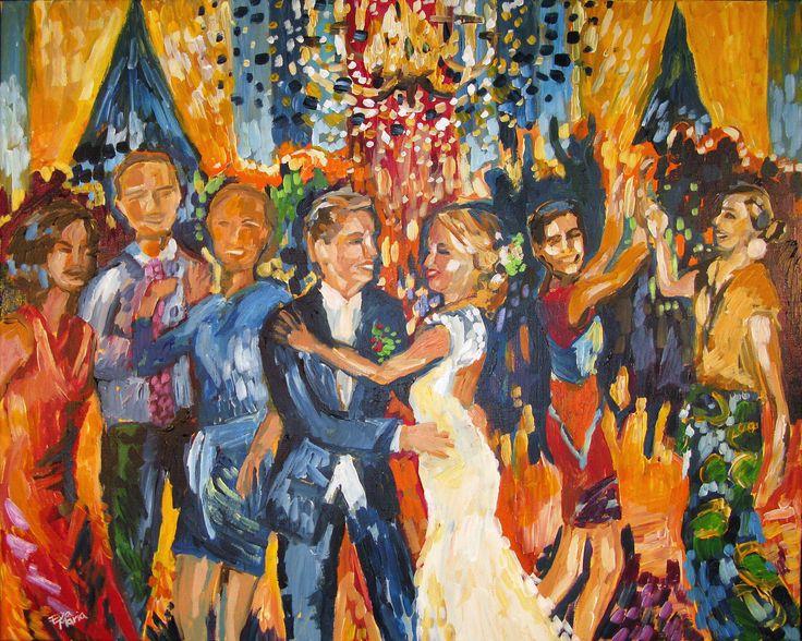 Live Painter Eva Maria, huwelijksfeest, first dance, eerste dans, kroonluchter, wedding, ambacht, persoonlijk, uniek, made to order