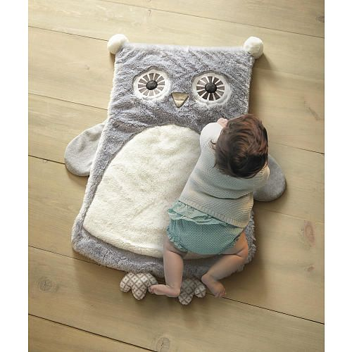 Babies R Us Exclusive! The Night Owl Playmat is an adorable gray owl made with a soft faux fur front and gray ditsy print back. This Playmat is ideal for tummy time, diaper changes or simply an accent to the nursery decor.<br> <br>The Levtex Baby Night Owl Playmat - Gray Features:<br><ul><li>Made with a soft faux fur front and gray ditsy print back.</li><br><li>This Playmat is ideal for tummy time, diaper changes or simply an accent to the nursery decor.</li></ul>