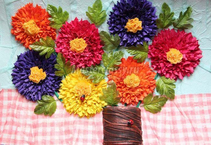 цветы из салфеток мастер класс