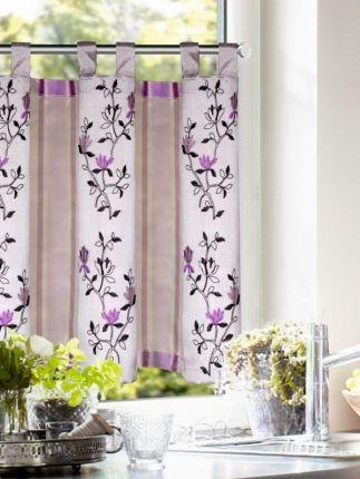 Fresh Ein Schlaufenpanneaux mit edlen Charme der Ihr K chen oder Esszimmerfenster ganz sicher zu einem Hingucker macht