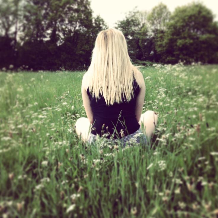 Sitting amongst flowers <3