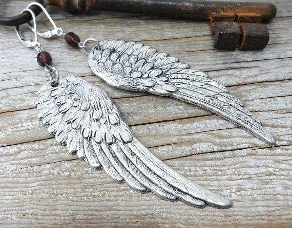 jewerly angel wings earrings csa