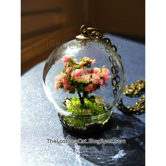 Hey, I found this really awesome Etsy listing at https://www.etsy.com/listing/223692563/terrarium-necklace-cherry-blossom-tree