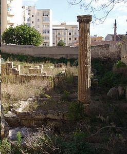 Colonna nella villa di Tigellio, Cagliari