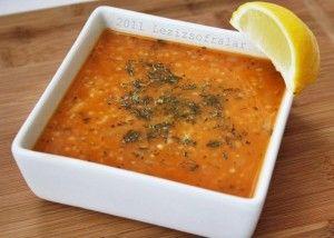 ezogelin corbasi (török vöröslencse-leves)
