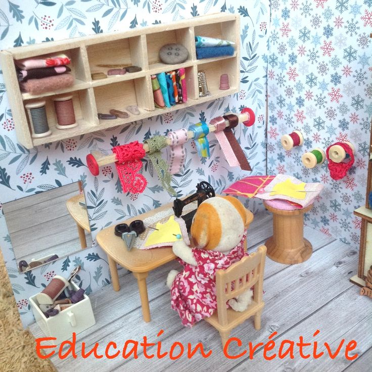 Sylvanian sewing room