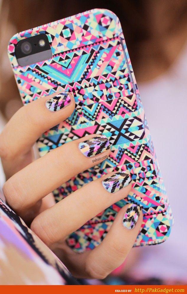 #nail #unhas #unha #nails #unhasdecoradas #nailart #gorgeous #fashion #stylish #lindo #cool #cute #fofo #tribal #colorido #awesome #amazing