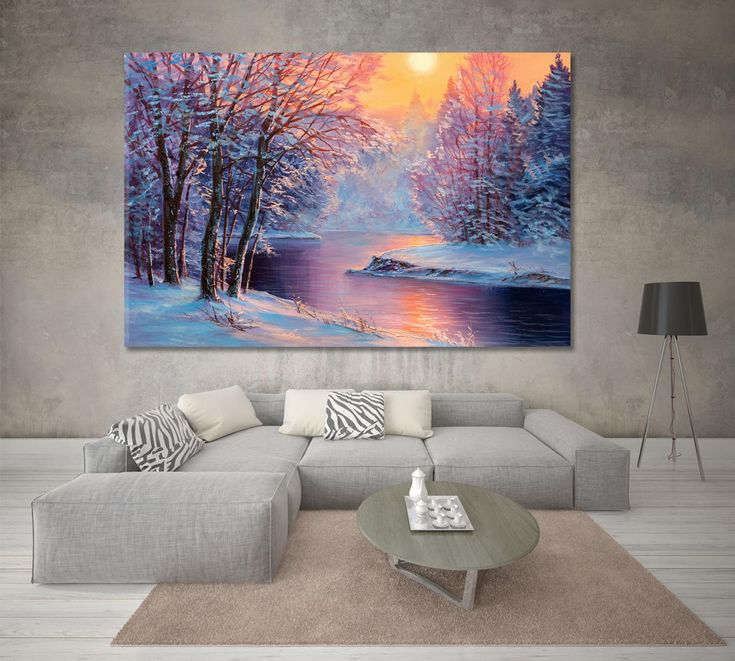 Landscape Artwork, Landscape Walls, Winter Landscape, Grand Art Mural, Wall Art Prints, Canvas Prints, Tree Wall Art, Office Wall Decor, Abstract Wall Art