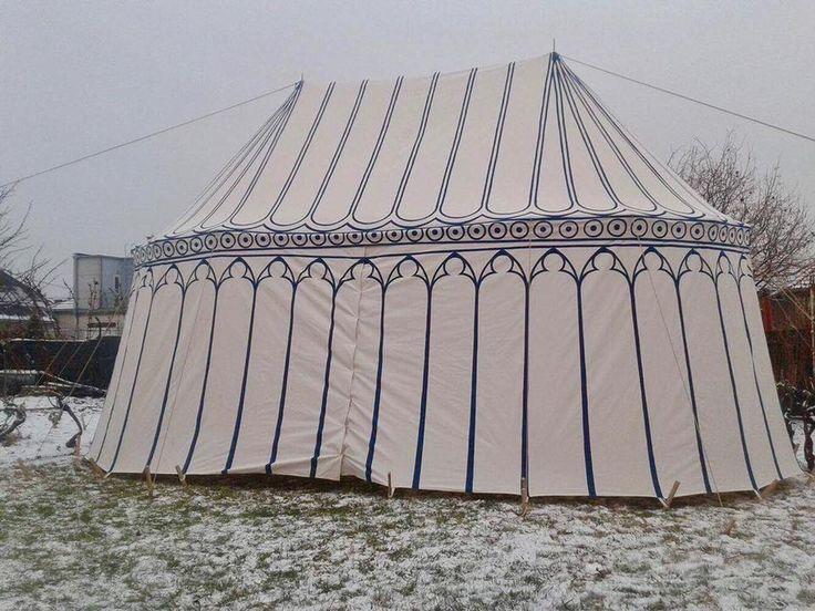 double pavilion made by Vinedi archery workshop