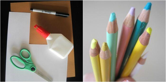 tarjetas de cumpleaños materiales necesarios para hacer tarjeta desplegable cumple pegamento lapices marcador tijeras