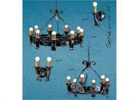 Lampadari in ferro battuto collezione Lux621