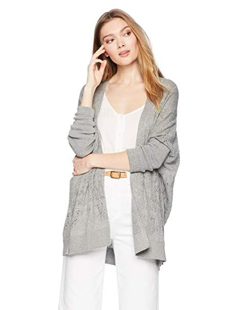 1d970c8bf68 Cable Stitch Women's Oversized Lightweight Cardigan Sweater Heather ...