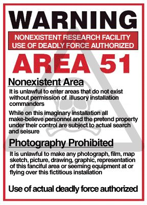area 51 warning security sign use of deadly force authorized
