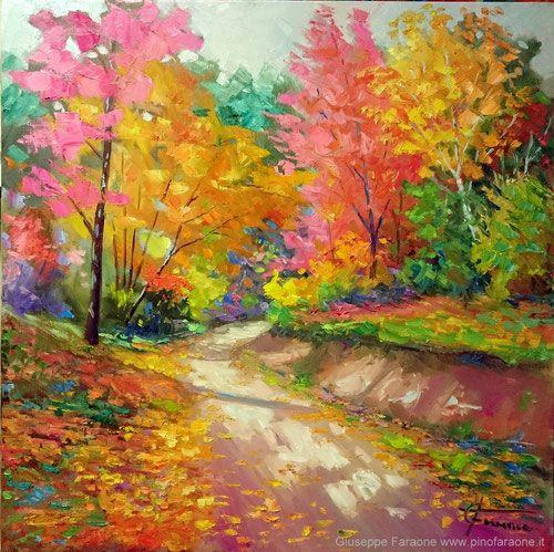 autunno dipinto, giuseppe faraone