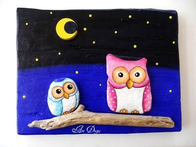 Art Drops: owls, SOVIĆI, BIRDS AND BIRDS